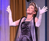 "Gerri Weagraff as ""Julia"" in Lend Me a Tenor at The Candlelight Theatre"