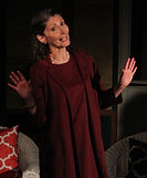 "Gerri Weagraff as ""Randa"" in The Savannah Sipping Society at Millbrook Playhouse"