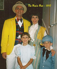 "Weagraff family, first show together, ""The Music Man"" 1997"