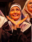 "Gerri Weagraff as ""Sister Amnesia"" in Nunsense at Hedgerow Theatre"
