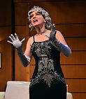 "Gerri Weagraff as Julia in ""Lend Me a Tenor"" at Beef & Boards Dinner Theatre"