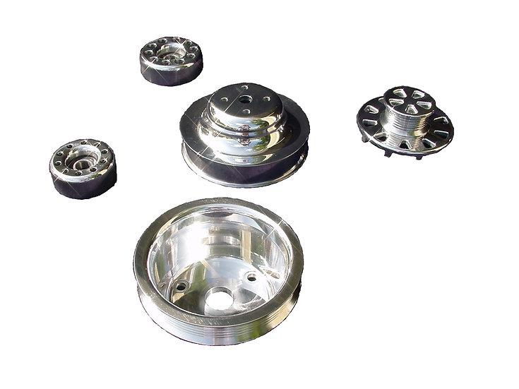 Billet Aluminum Serpentine Underdrive Pulley Set