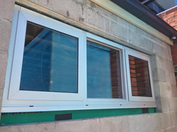 Two double glazed awning sashes