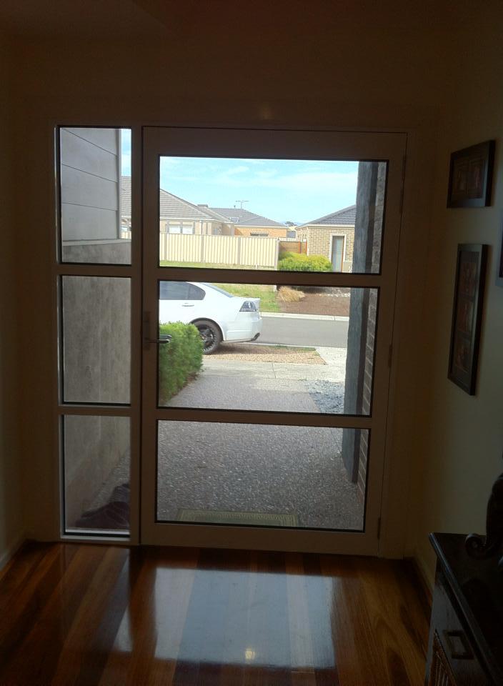 Feature entrance door - inside view