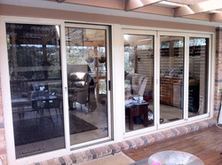 Single sliding door and bi folds