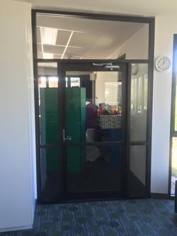 Hinge door in a school