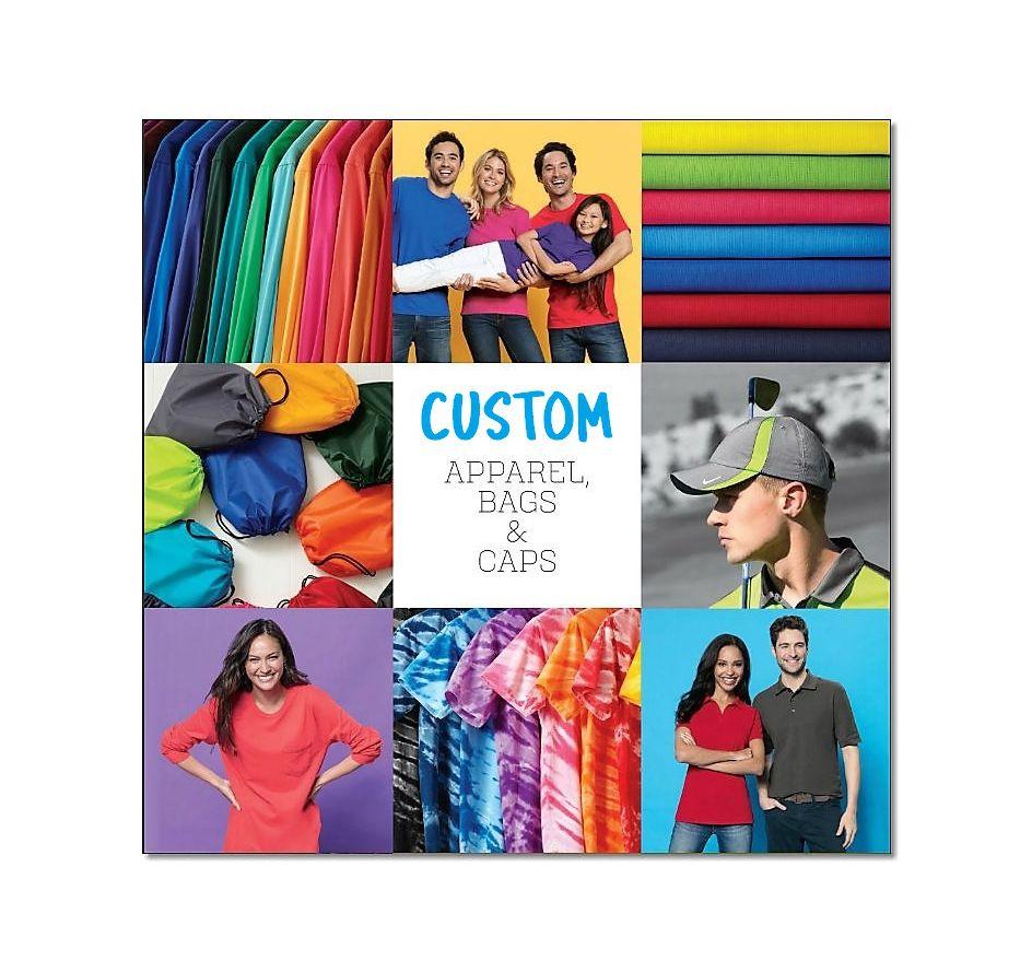 Custom Apparel, Bags, & Caps