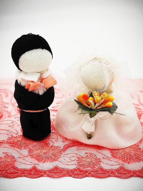 Mini porte-bonheurs Couple de mariés