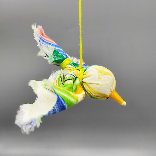 Oiseau arc-en-ciel porte-bonheur à suspendre