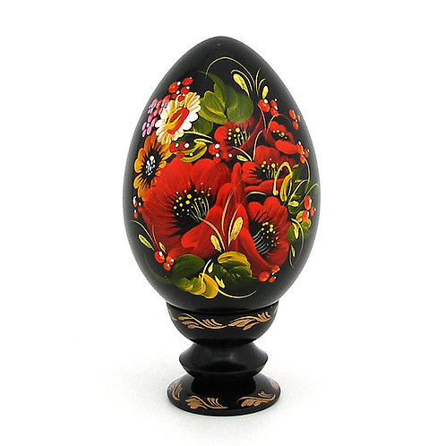 Painted Egg With a Stand