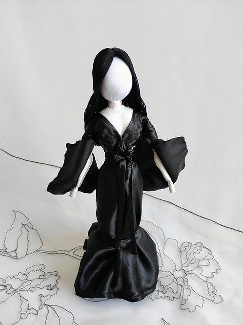 Morticia Addams model amulet doll