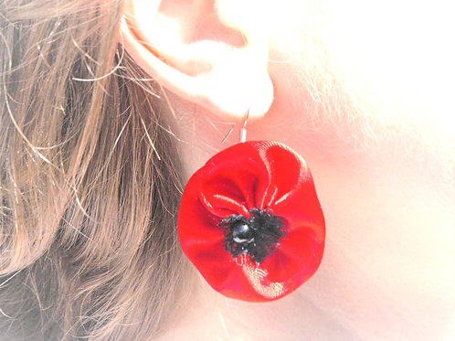 Boucles d'oreilles Coquelicots