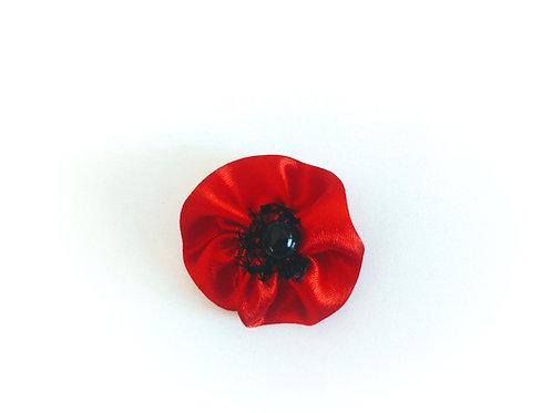 Poppy Flower Brooch Pin