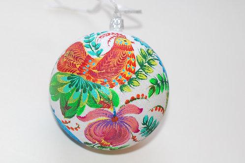 Boule de sapin de Noël peinte à la main