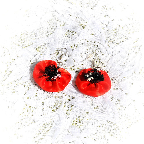 Poppy Earrings - with a light point