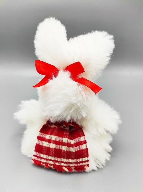 Lapin peluche d'Alsace,  déco, marionnette à doigt