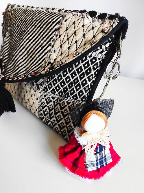 Alsatian bag charm and lucky charm