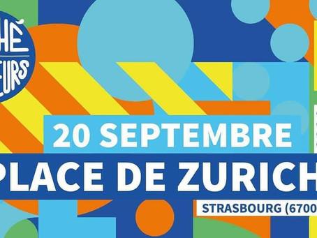 Place Zurich à Strasbourg, un lieu des rencontres d'artistes créateurs et du public