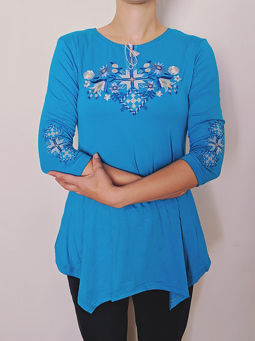 Embroidered Tunic - Floral Geometry