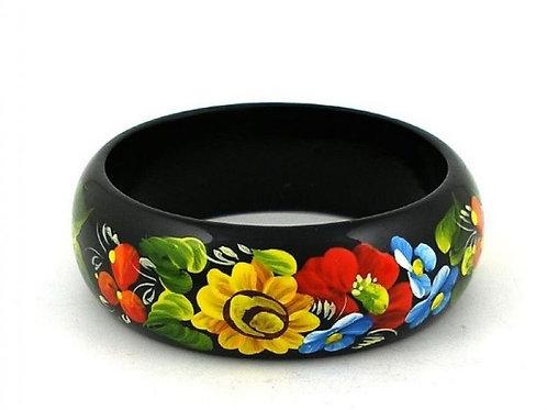 Bracelet en bois peint