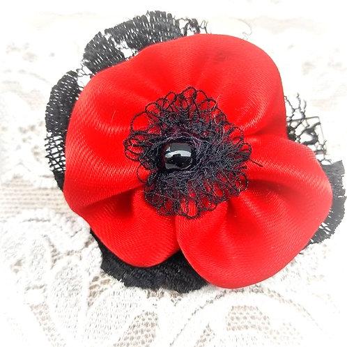Poppy Flower Barrette