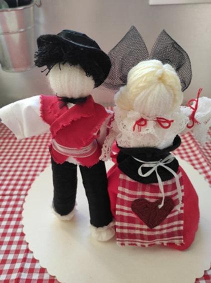 Couple of Alascian Inseparable dolls, wedding gift, love talisman