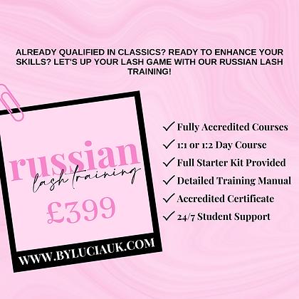 RUSSIAN LASH TRAINING