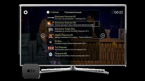 Русское онлайн интернет телевидение на Apple TV