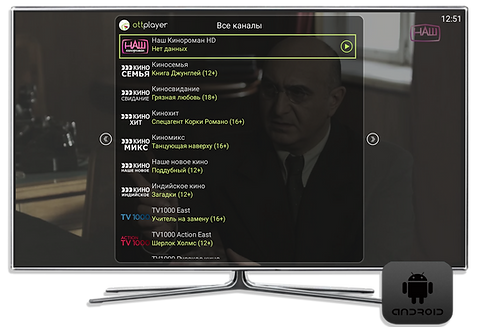 Онлайн Русское тв на андроид тв приставках и телевизорах