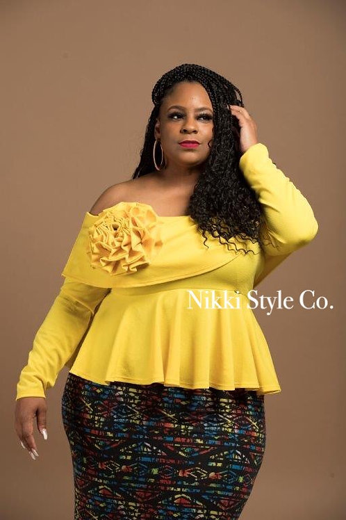 Yellow Bow Blouse