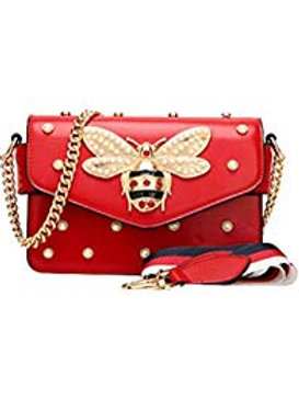 Red Luxe Cross Body Bag