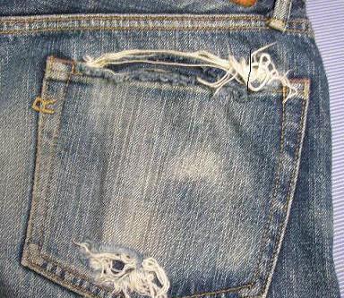 後ろポケットの補修