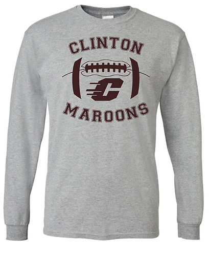 Long Sleeve Maroons Football