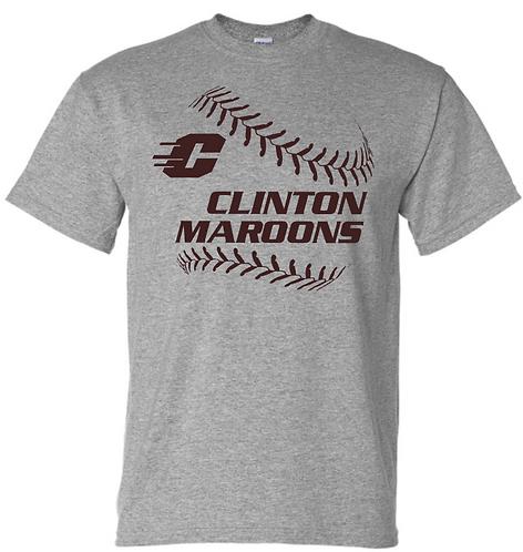 Short Sleeve Maroons Baseball