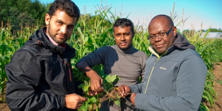 Dr Thomas and students field work