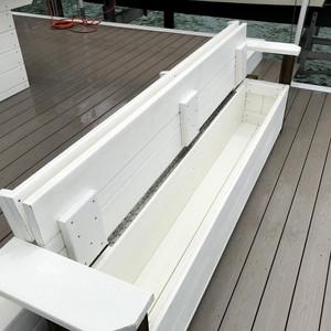 Custom Dock Bench with Storage