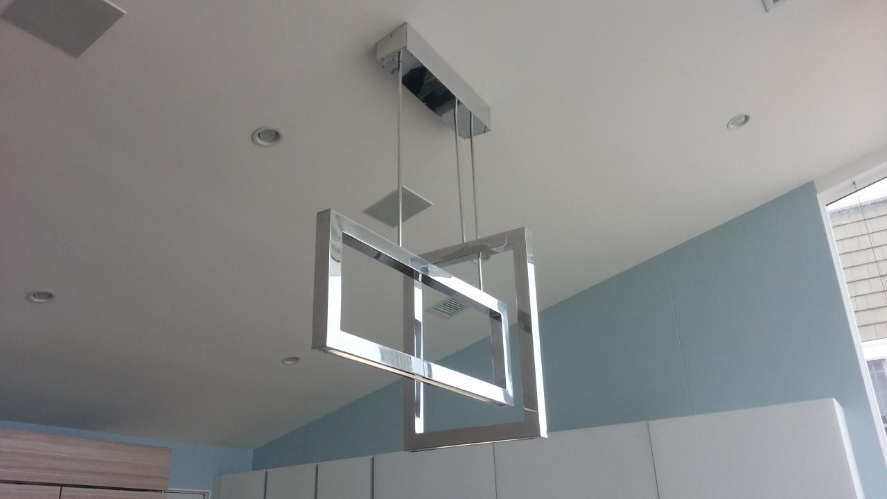 Polished Aluminum LED Light