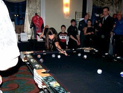 Hurricane custom billiards with Danica Patrick