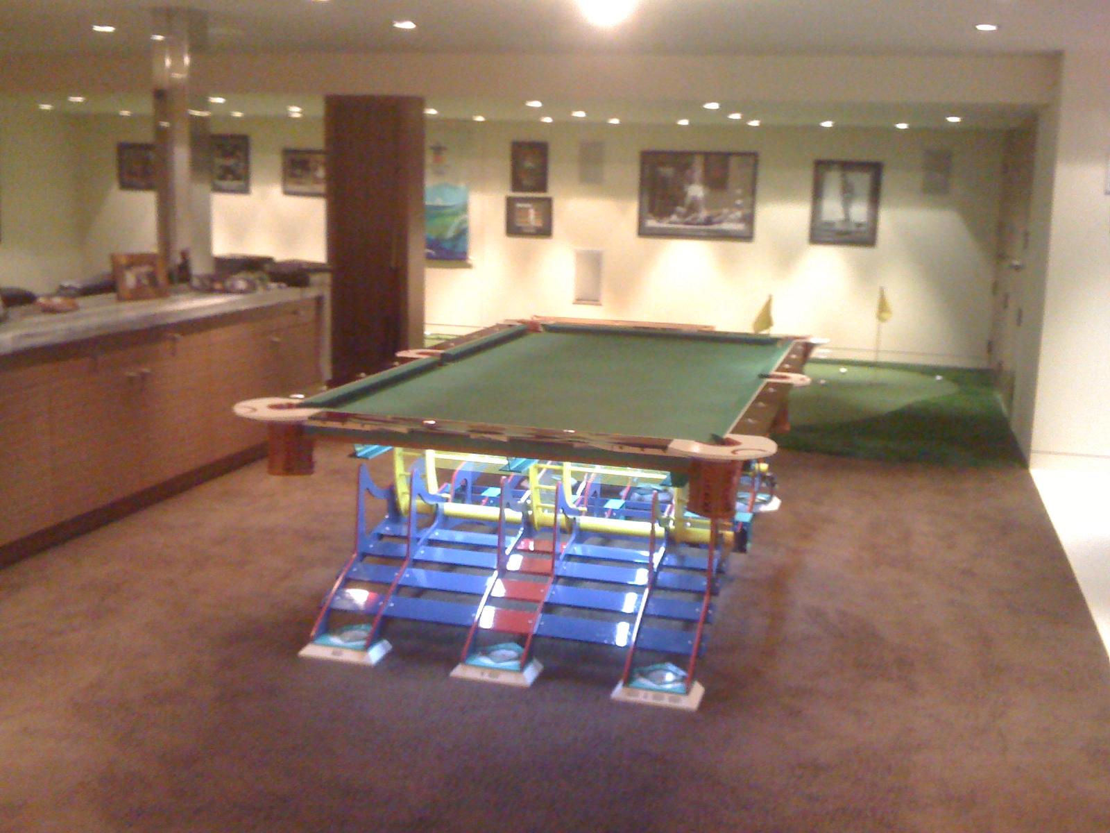 Lighted Baseball Table