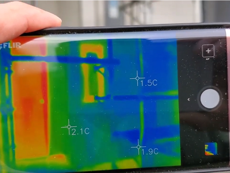 断熱材施工後の温度環境をサーモカメラでお届け!