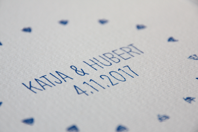 HANDMADE STAMP WITH WEDDING ANNOUNCEMENT