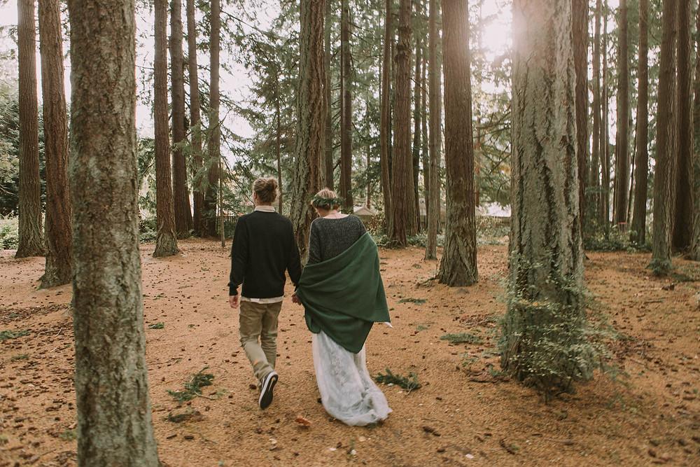 Pacific Northwest Winter Wedding in the Woods | Kitsap Memorial State Park Wedding