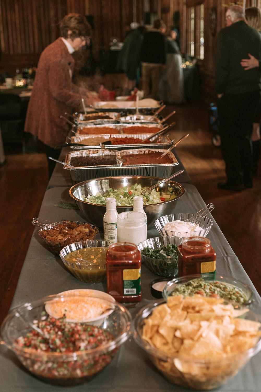 Kitsap Washington Wedding | DIY Potluck Taco Buffet