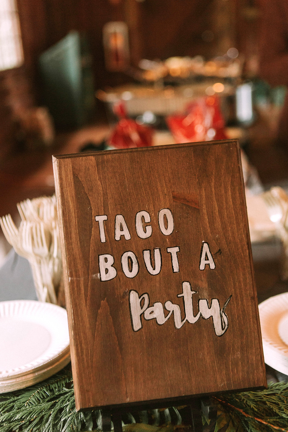 Kitsap Washington Wedding | DIY Taco Bar Buffet Catering