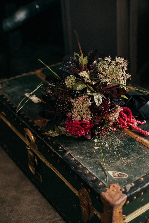 Local Snohomish Flowers Florist Farmer Vintage Trunk Wedding