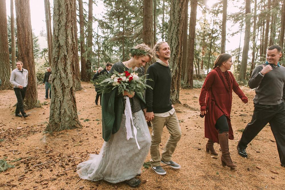Woods PNW Washington Wedding Kitsap State Park Lowkey