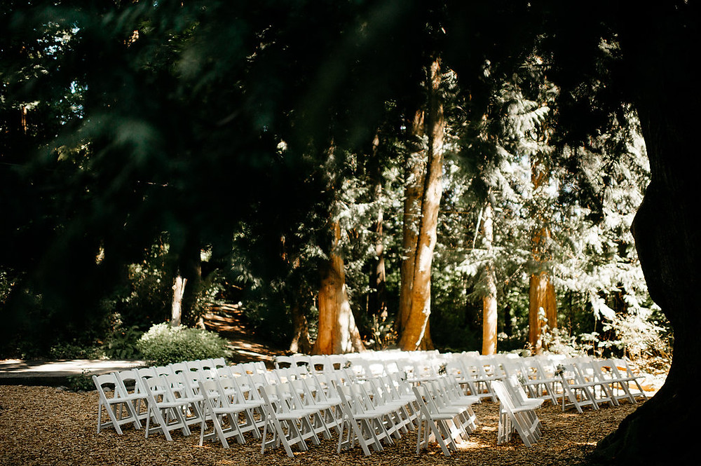 Snohomish Wedding | Ceremony in the Woods | Large arbor, Simple Decor, PNW | Twin Willow Gardens