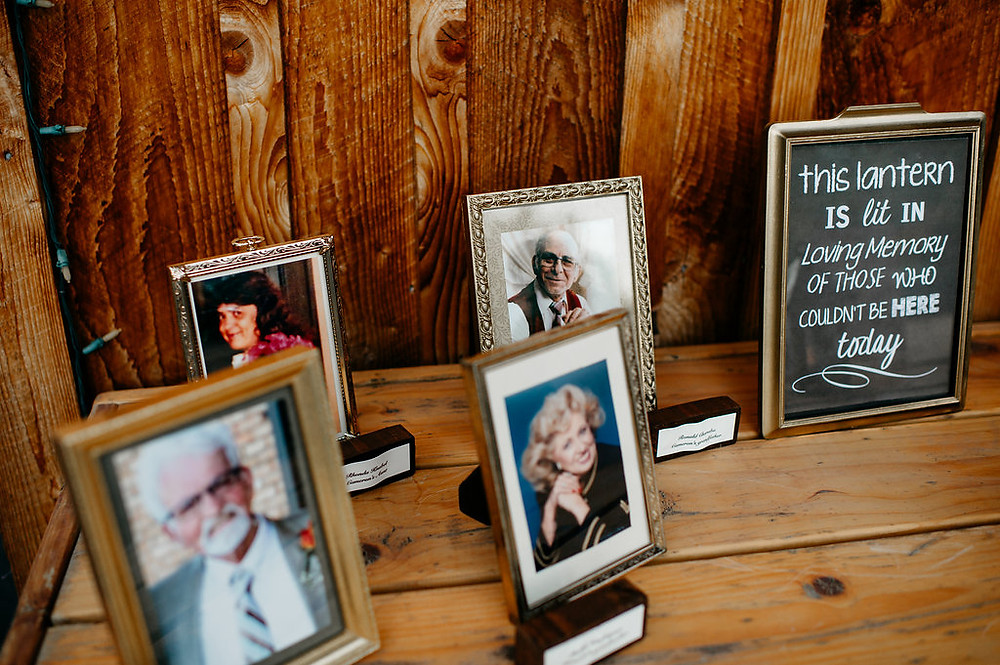 Memory Table - Meaningful Wedding Details | Snohomish, WA Wedding Coordinators | Twin Willow Gardens