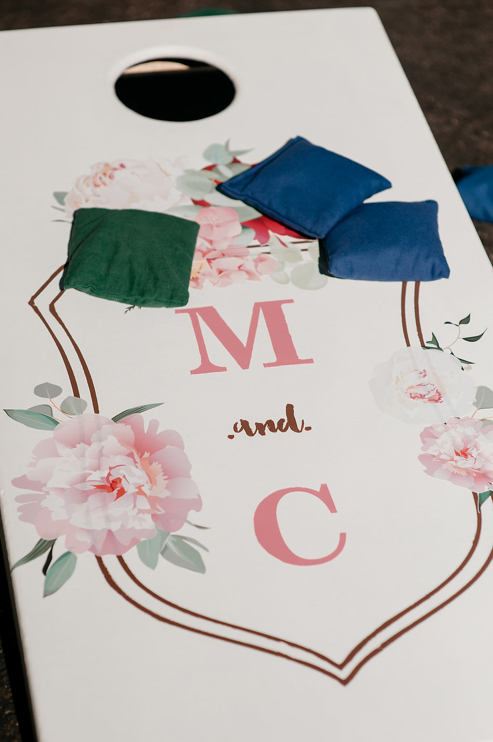 Personalized Corn Hole | Wedding Lawn Games | Snohomish, WA Wedding Coordinator