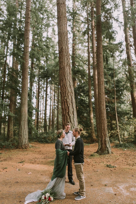 Woods Forest Outdoor Wedding Minimal Florist